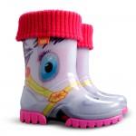 Розови детски ботушки, pvc материя - ежедневни обувки за есента и зимата N 100012909