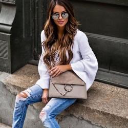 Сиви дамски чанти
