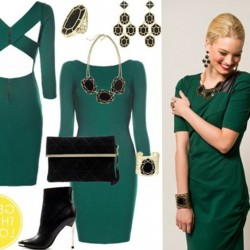 Обувки за зелена рокля