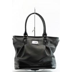 Дамска чанта черна кожена СБ 1090 чернаKP