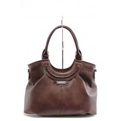 Дамска елегантна чанта СБ 1019 бордоKP