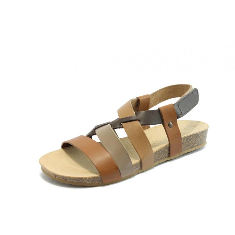 410db7d4aab Ортопедични дамски сандали кафяви кожени Jana 28121-32KP
