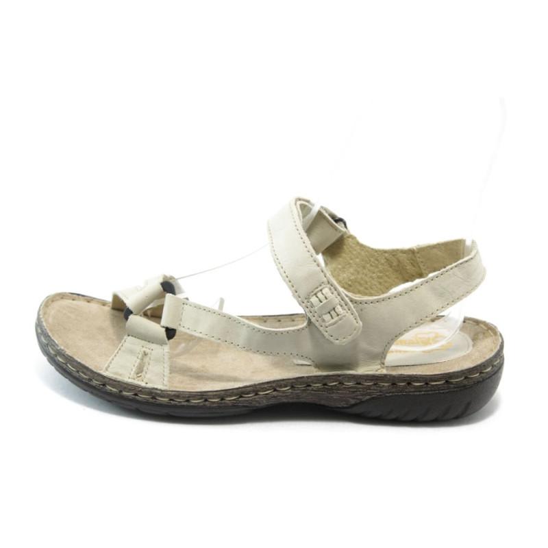 35aba1f0eb0 Ортопедични дамски сандали кожени ГР 9008 бежовиKP