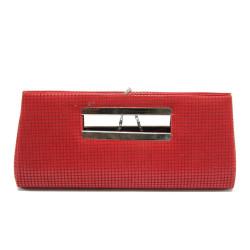 Червена дамска чанта тип портмоне