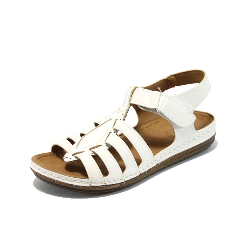 bad7fd4e542 Бели анатомични дамски сандали