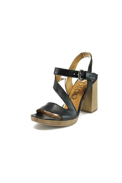 75a3016032a Анатомични черни дамски сандали, естествена кожа - всекидневни обувки за  лятото N 10008496