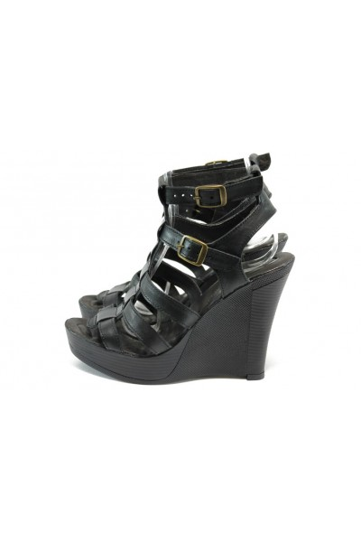 ef19f6b9eab Анатомични черни дамски сандали, естествена кожа - всекидневни обувки за  лятото N 10005743