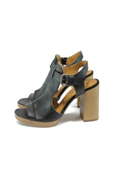 a98ef502f8f Анатомични черни дамски сандали, естествена кожа - всекидневни обувки за  лятото N 10008688