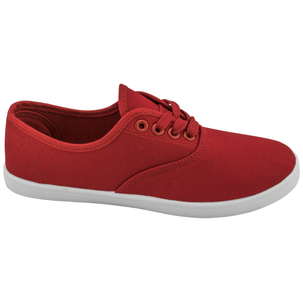 Червени дамски маратонки, текстилна материя - спортни кецове за пролетта и лятото N 100010292