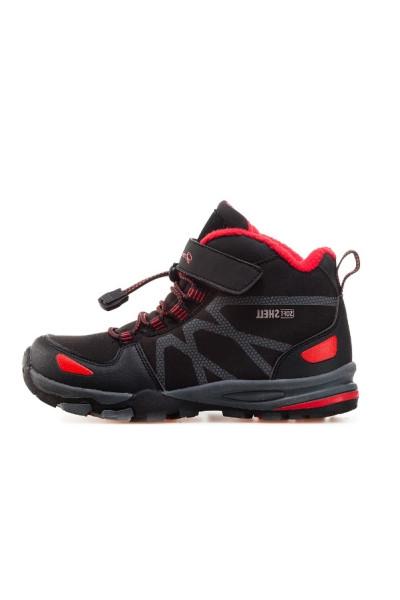 b2550284e23 Черни детски обувки, здрава еко-кожа - всекидневни обувки за есента и  зимата N