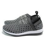 Черни дамски маратонки, текстилна материя - спортни обувки за пролетта и лятото N 100010069