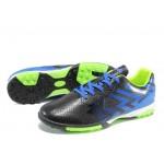 Тъмносини юношески стоножки за футбол, здрава еко-кожа - футболни обувки за целогодишно ползване N 100012198