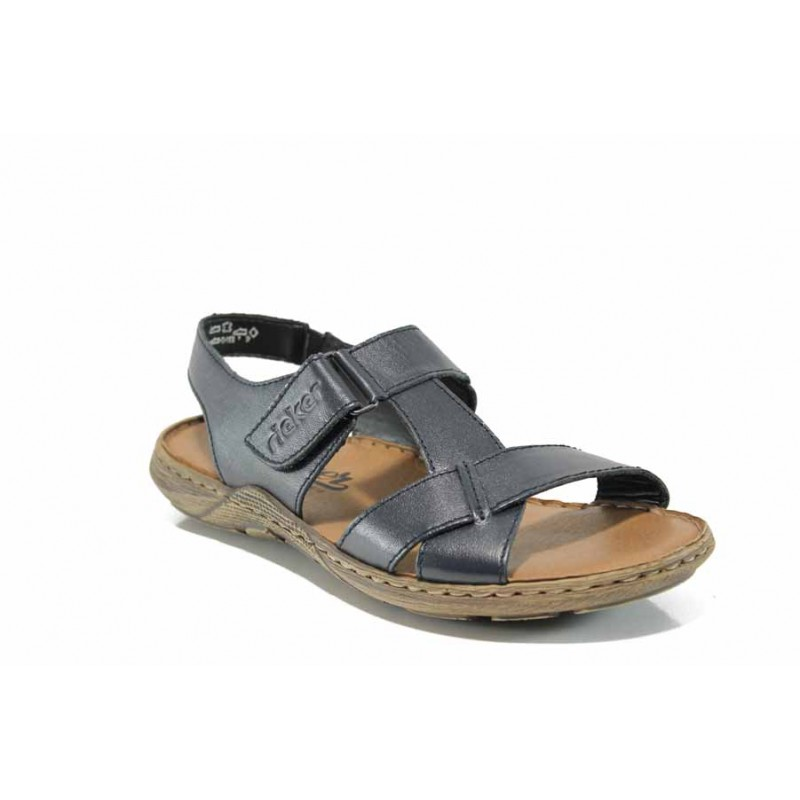 965aac4646c Сини мъжки сандали, естествена кожа - ежедневни обувки за пролетта и лятото  N 100012520