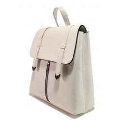 Бяла раница, здрава еко-кожа - удобство и стил за вашето ежедневие N 100018405