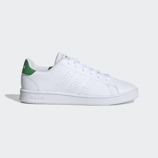Бели тинейджърски маратонки, здрава еко-кожа - всекидневни обувки  N 100017785