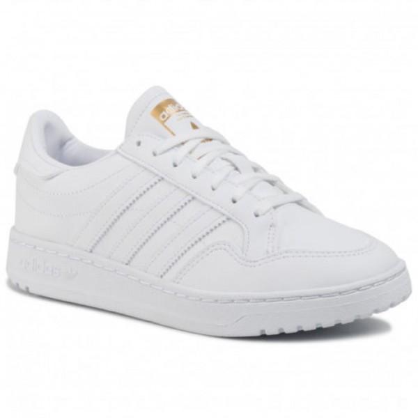 Бели тинейджърски маратонки, здрава еко-кожа - спортни обувки  N 100017853