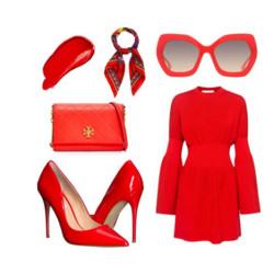 Червените дамски обувки