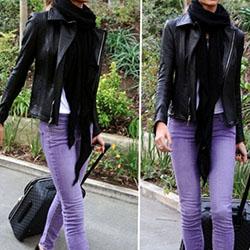 Ключът към стилна визия с лилав елемент на дамския гардероб