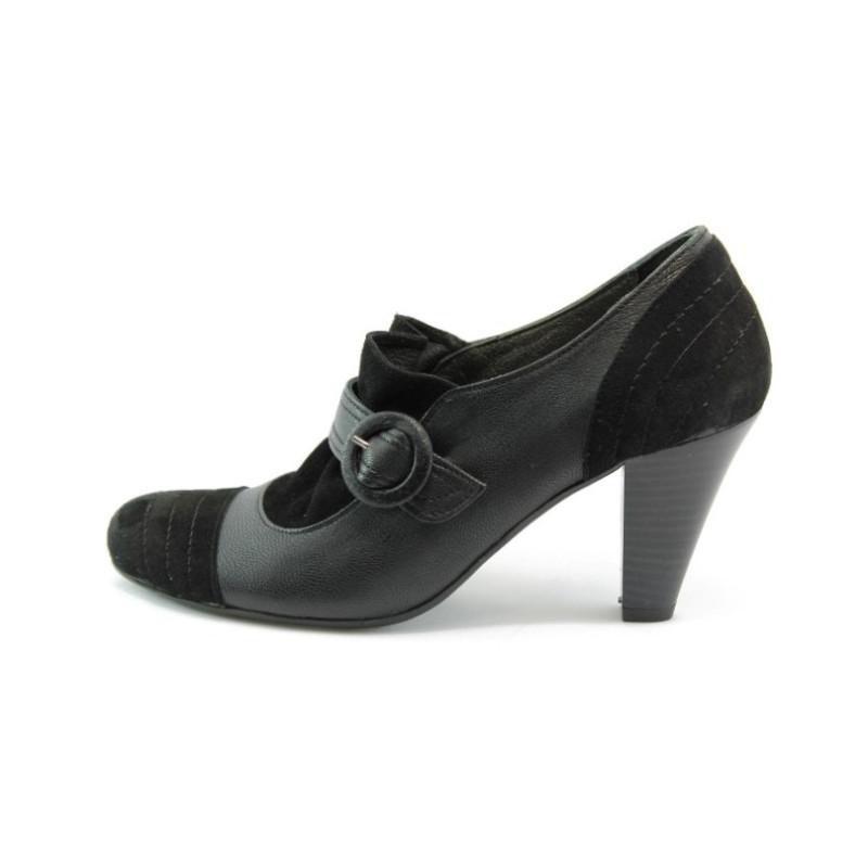 afa47774d06 Дамски обувки елегантни черни на висок ток АК 148KP