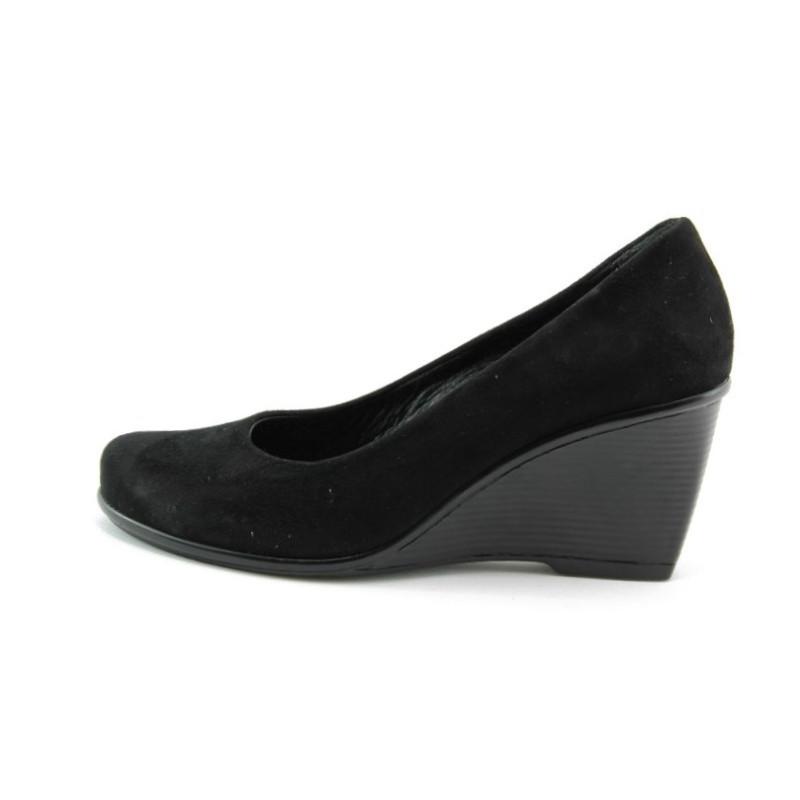 33b4832a840 Дамски обувки стилни черни велурени на платформа МИ 45Ч.В.KP