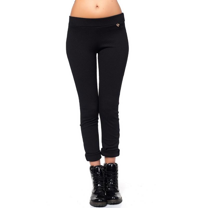 a4db5133e09 Черен дамски панталон тип клин