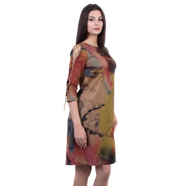 Нежна рокля в есенни цветове