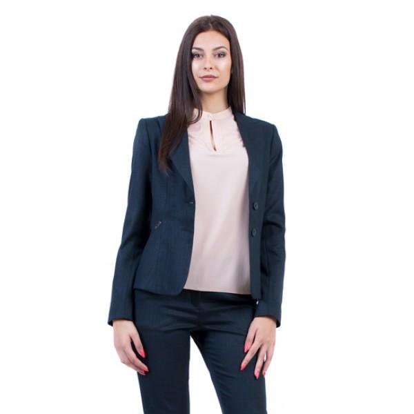 Дамско сако в цвят петрол