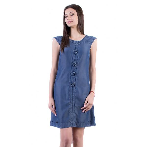 Дънкова вталена рокля