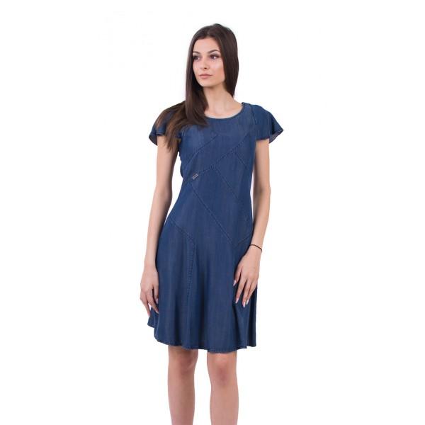 Дънкова разкроена рокля