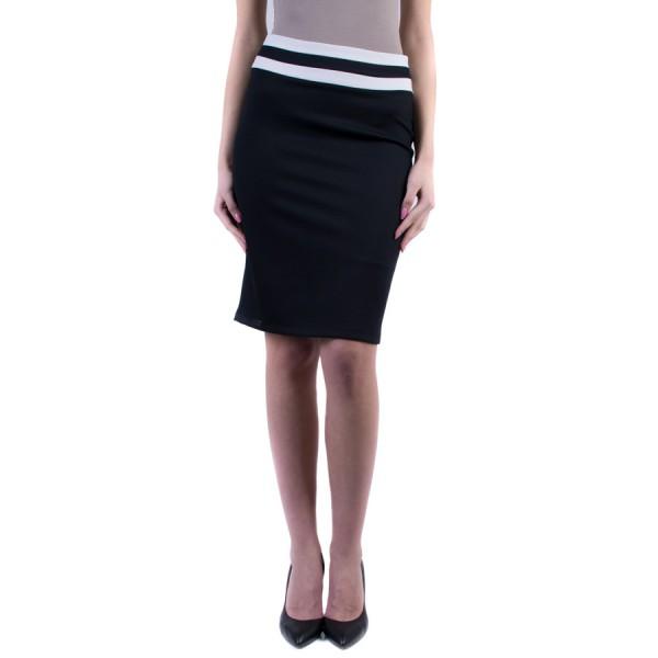 Дамска пола в черно и бяло