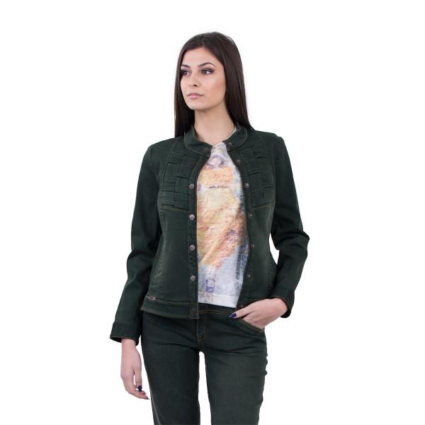 Тъмнозелено дамско яке