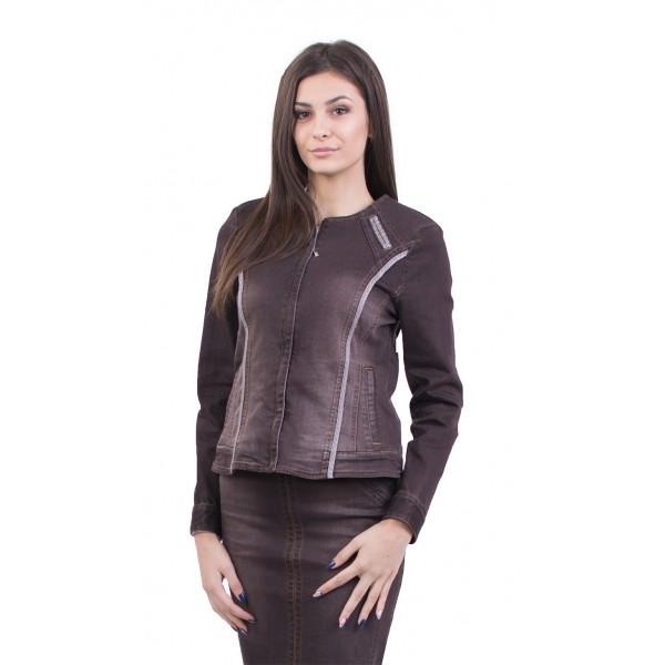 Тъмнокафяво дънково яке