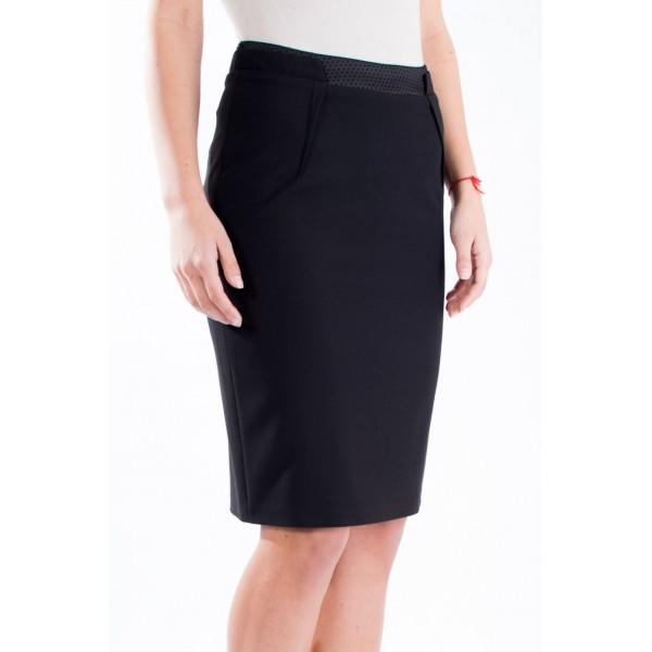Дамска черна пола