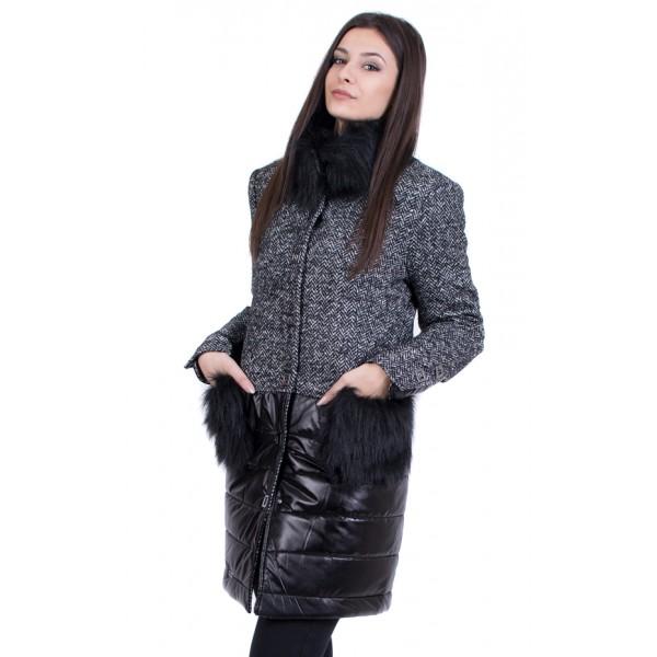 Дамско вълнено палто