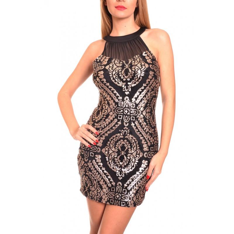 b4cb36eb280 Елегантна къса рокля по тялото 39309AL