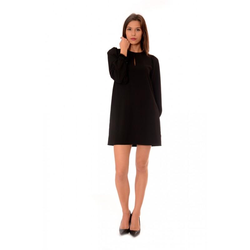 473ba0efc78 Черна широка рокля