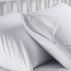 Памучна калъфка за възглавница с цип