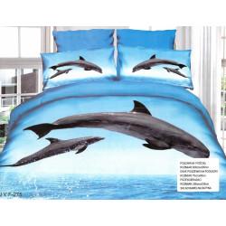 Спален комплект 3D дизайн - Два делфина