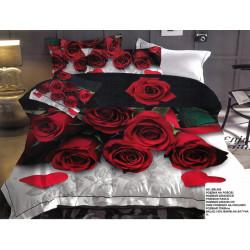 Спален комплект 3D дизайн - Розата на любовта