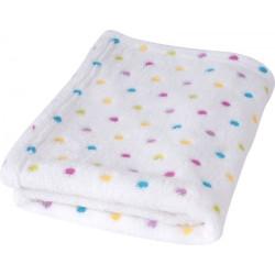 Бяло бебешко одеяло Точици