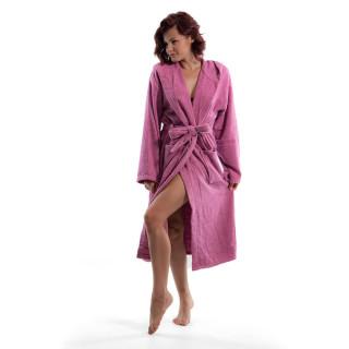 Стилен халат за баня в пепел от рози