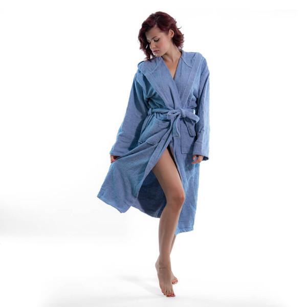 Стилен халат за баня в синьо