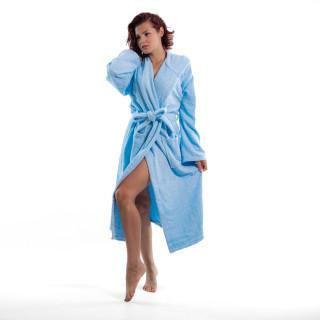 Стилен халат за баня в светло синьо