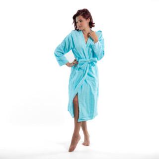 Стилен халат за баня в аква