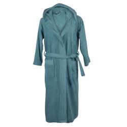 Халат за баня с качулка - Turquoise