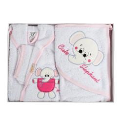 Памучен бебешки комплект за баня - Игриво кученце 05