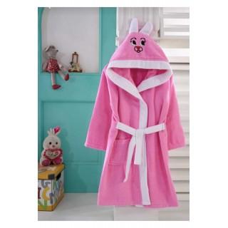 Розов детски халат - 100% Памук