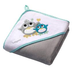 Мека хавлия за бебе Семейство Птичета - Памучен велур