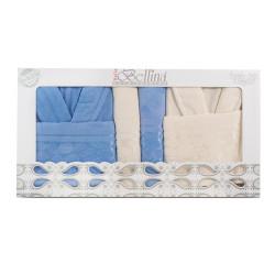 LUX комплект халати и кърпи Сандра - 100% памук
