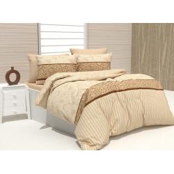 Памучен спален комплект Фиера - бежов